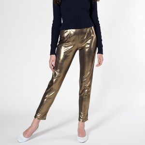 Anerican apparel gold shiny dance pants